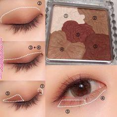 ミックスカラーチーク|CEZANNEの人気色を比較「ナチュラルメイクにおすすめのパウダーチーク!セザンヌミックスカラー..」 by nana(30代前半) | LIPS | makeup in 2019 | Eye makeup, Asian eye makeup, Korean eye makeu