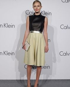 Kate Bosworth does classic with a citrus twist.