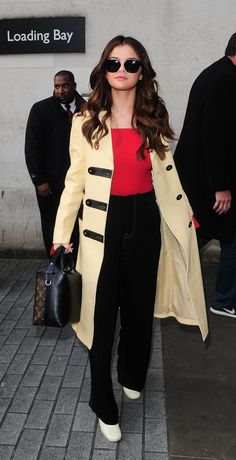 Selena Gomez looks ever so stylish in Celine, Jacquemus, and Louis Vuitton in London, England.