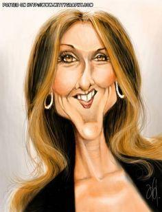 farrah fawcett caricature | Céline Dion