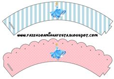 Kit de festa gratuito para Imprimir da Princesa Cinderela - Dicas pra Mamãe