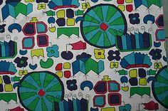 David Whitehead - vintage curtain fabric cotton