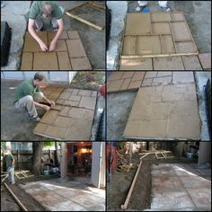 How to Build Your Own Cement Patio   Want a patio that's a bit more exciting than plain concrete? This project will give you a great looking patio at a fraction of the cost of a professional job.