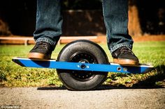 A motorised skateboard with just one wheel has been created by a firm in San Francisco. Ca...