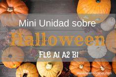 Una mini-unidad sobre Halloween FLE para A1 A2 o B1: presentación sobre supersticiones en Francia, texto a leer, un juego e incluso una receta.