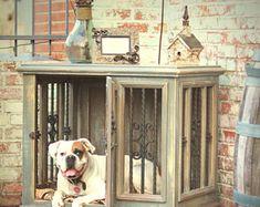 Large Single Indoor Custom Wood Dog Kennel/Crate