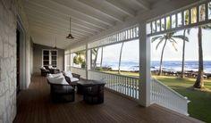 Dream Porch Design, Pictures, Remodel, Decor and Ideas Interior Exterior, Home Interior, Interior Design, Strand Design, Outdoor Spaces, Outdoor Living, Hawaiian Homes, Hawaiian Home Decor, British Colonial Style