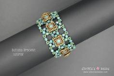 Swarovski Bezeled Chaton Bracelet Buttons Beaded Bracelet