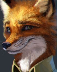 Nick Wilde Realistic Portrait. by DreamingWanderer.deviantart.com on @DeviantArt