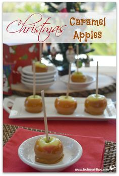 Christmas Caramel Apples - get the recipe at www.tootsweet4two.com.
