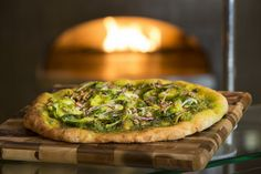 #EarthDay Recipe: Pizza with Brussels Sprouts and Parsley Pecan Pesto  - Foodista.com #MeatlessMonday