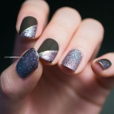 "Fab nail art with Julep's ""Cameron, ""Rooney,"" and ""Love."""