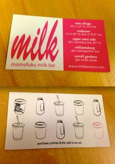 Put the logo on the coffee cup, really nice idea (HH) Menu Design, Flyer Design, Branding Design, Loyalty Card Design, Loyalty Cards, Momofuku Milk Bar, Member Card, Cafe Branding, Creative Business Cards