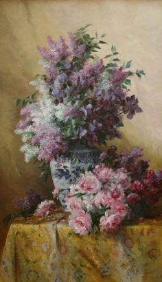 Albert-Tibulle Furcy de Lavault (1847-1915) - Fleurs printanières