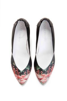 Limited Edition Juliette Pump with Flamingo door OliveThomasShoes, $210.00
