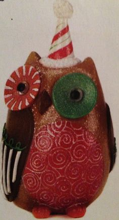 $9.95 Sweet holiday owl decor.