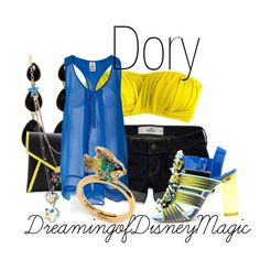 Disney inspired outfit: Dory from Nemo Paige Nerd Outfits, Disney Bound Outfits, Cute Outfits, Fashion Outfits, Fashion Tips, Movie Inspired Outfits, Disney Inspired Fashion, Themed Outfits, Disney Fashion