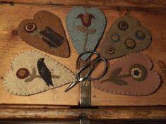 Primitive Wool Scissor Keeps 5 Designs by TeresasPrimTreasures on Etsy