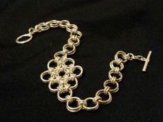 Chainmaille bracelet of silver