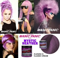 hair dye violet heather mystic Manic Panic