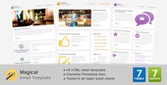 Magical Email Template by Gifky Welcome to Magical Email Template a clean and minimal email template which comes in 7 color themes, 7 layouts each, fits wide range of email usage including business, marketing, personal and general newsletter usage.Features & Con
