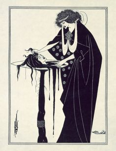 The Dancer's Reward by Aubrey Beardsley, from Salome, the biblical story of how Saint John the Baptist lost his head