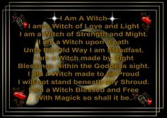 I am a witch wicca wiccan pagan pagans witchcraft