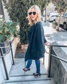 """ab51c9147cb Jacqueline Lorraine on Instagram  """"Steppin  into Friday like 🤗💃🏼 Grab  our Moonlight Sweater Coat to stay cozy all winter long!⛄   jacquelinelorraine"""""""