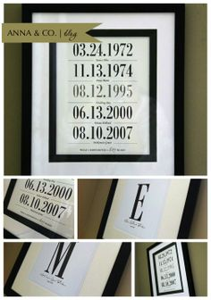 Anna & Co. | {DIY} Date Art & Monogram Prints....super easy!!!
