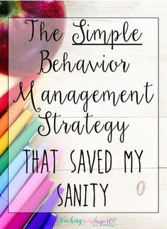 This simple behavior management strategy allowed me to anticipate possible behaviors that would happen and plan my reaction or consequence. It is so simple but made such an impact on my classroom management and classroom culture. Click through to read abo