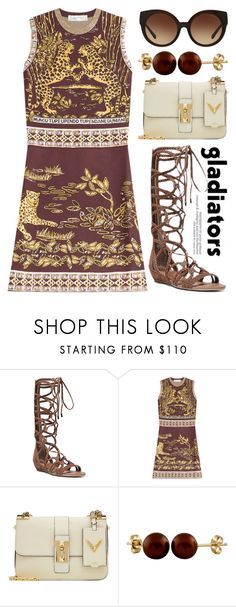 """""""Long Gladiator Sandals 1494"""" by boxthoughts ❤ liked on Polyvore featuring Carlos by Carlos Santana, Valentino, Splendid Pearls and Michael Kors"""