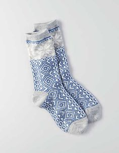 AEO Snowflake Crew Socks, Pink | American Eagle Outfitters
