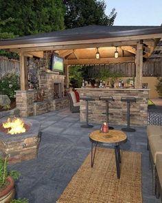 Pergola For Small Patio Patio Pergola, Backyard Pavilion, Pergola Design, Backyard Patio Designs, Backyard Landscaping, Gazebo, Patio Ideas, Garden Ideas, Backyard Projects