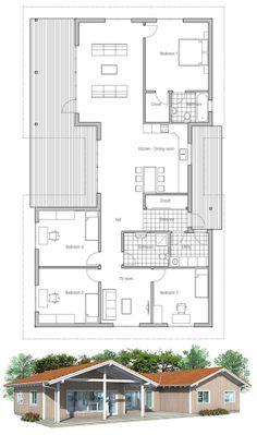 House Plan, Floor plan with three bedrooms