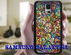 Disney Phone Case, All Characters Stained Glass, Samsung Galaxy S5 Case, Samsung S5 Hard or Rubber Case