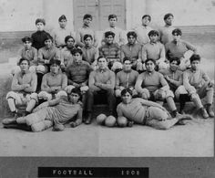 The Sherman Indian School's 1908 football team Indian Residential Schools, Sociology, Photo Archive, Vintage Postcards, Football Team, American Indians, Nativity, Photo Galleries, United States