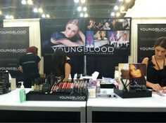 Getting ready for #iMATS Day 1 with @Youngblood Mineral Cosmetics cc: @YBcosmetics