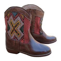 Moroccan Leather Rounded Kilim Ankle Boots – size 38. £150. SOLD!