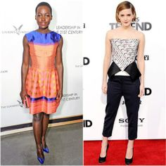 Lupita Nyong'o in Vivienne Westwood vs. Emma Watson in Roland Mouret/3.1 Phillip Lim. Click through to vote in the #MarchFabness finals!