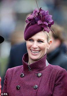 Duchess of Cornwall and Zara Tindall brave windy weather at Cheltenham Ladies Day Duchess Of Cornwall, Duchess Of Cambridge, Zara Hats, Zara Phillips, Fancy Hats, Duchess Kate, Royal Fashion, British Royals, Ladies Day
