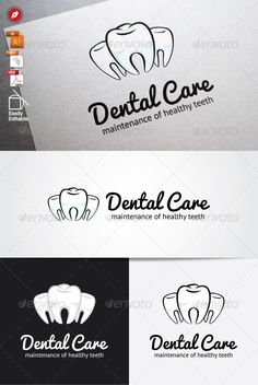 Dental Care Logo #GraphicRiver Dental Care Logo An excellent logo template related to clinic, dental, dr, mouth, teeth. Highly made for those who need illustrative, memorable, editable, simple and versatile logo. File Information Useful format : AI, EPS (CS4 & Ver.10), PDF Resizable Vector logo 300 DPI-CMYK color mode (for print and web purpose) Easily Editable and Resizable Black and White version included Font link information Fonts : Pacifico PT Sans Please rate this item if you like…