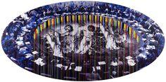 """""""Hipotesis sobre la paz""""  192 x 385 cm  Impresión digital y acrílico sobre blackout"""