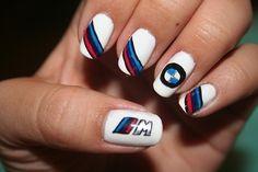 Bmw nails -ℛℰ℘i ℕnℰD by Averson Automotive Group LLC Pretty Nail Colors, Pretty Nails, Gel Nails, Acrylic Nails, Nail Art Images, Bmw Love, Gel Nail Designs, Birthday Nails, Stylish Nails