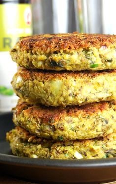 4 Sprouted Mung Bean Burgers #vegan #glutenfree -Nice burgers, but add 2 eggs and some flour. Nice chutney, try with lime instead of lemon next time