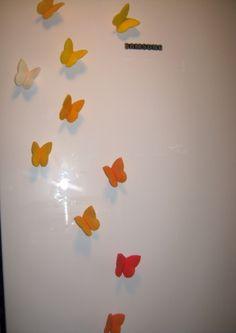 10 db pillangó hűtőmágnes, Dekoráció, Konyhafelszerelés, Otthon, lakberendezés, Hűtőmágnes, Meska