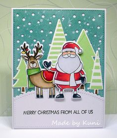 Kunis Bastelblog: merry christmas from all of us | Sweet Stampers Challenge #1
