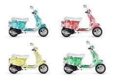 I'm terrified of riding on a motorized bike of any kind, but I might consider it on one of these Vespas designed by Kate Spade just because they're so cute!