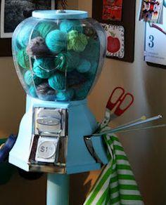 Yarn Ball Machine - this is AMAZING! ;-)