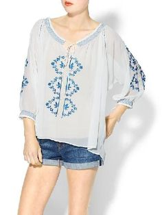 easy embroidered top
