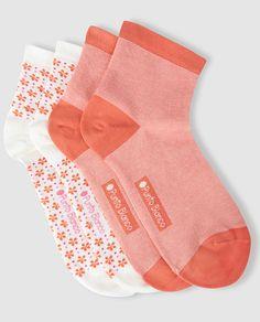 Pack de dos pares de calcetines mujer de algodón estampados - por PUNTO BLANCO :El Corte Inglés 2016:
